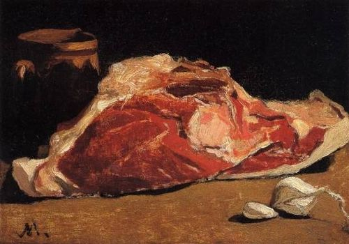 Claude-Monet-Still-Life-with-Meat-Oil-Painting