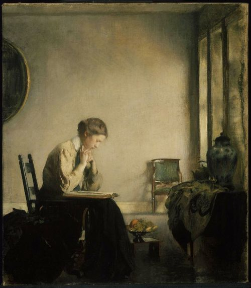 Edmund-Charles-Tarbell-xx-Girl-Reading-1909