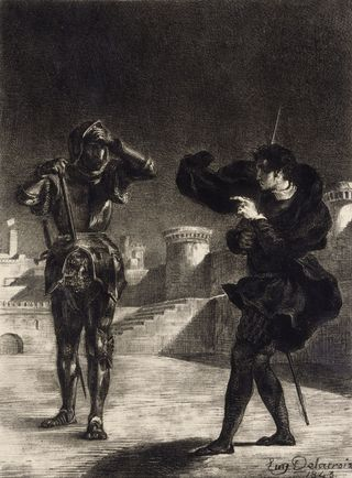 Hamlet-sees-the-ghost-of-his-father-1843Delacroix