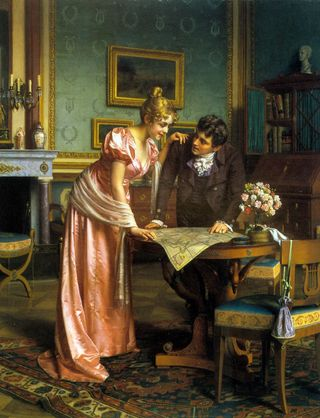 Brack_emil_planning_the_grand_tour_oil_on_canvas