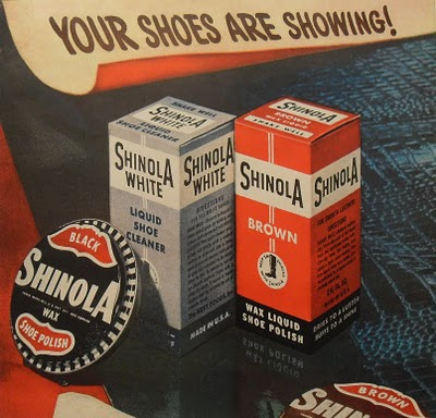 1940s SHINOLA Shoe Polish vintage illustration advertisement