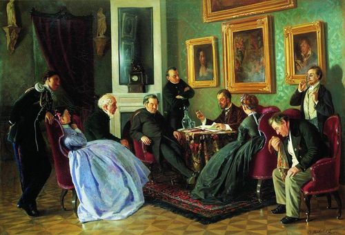 Makovsky-Vladimir-literary-reading-1866